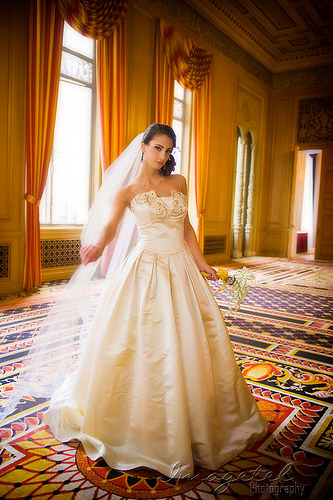 bridal gown photo